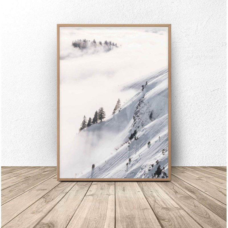 Poster Snow-covered forest