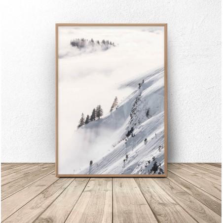 """Plakat  """"Las otulony śniegiem"""""""
