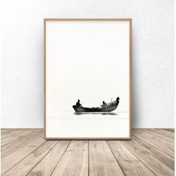 """Plakat nowoczesny """"Łódka"""""""