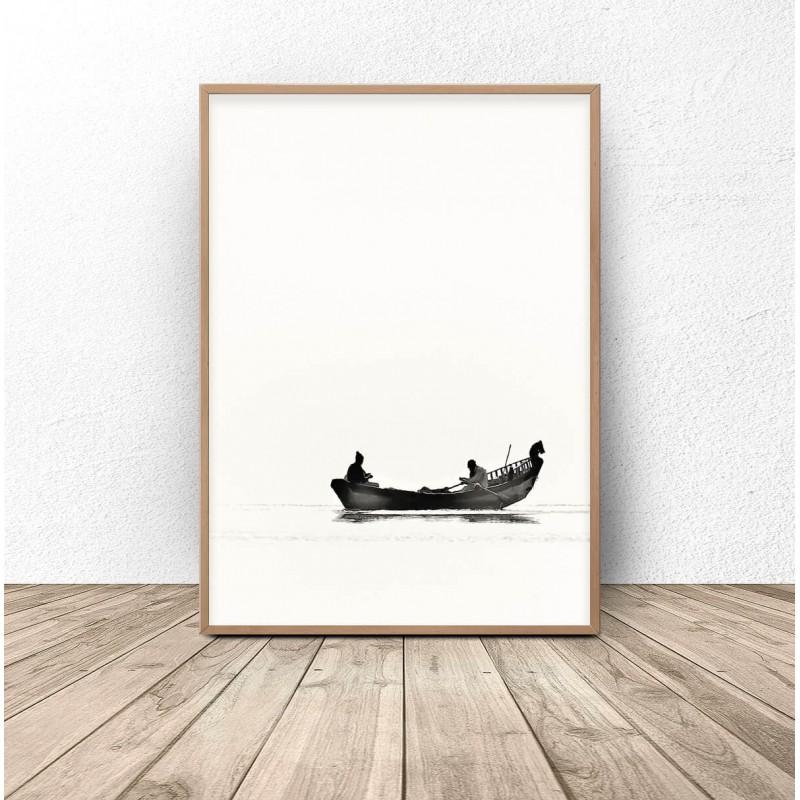 Plakat nowoczesny Łódka