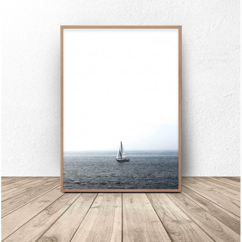 Poster for the wall Sailboat at sea