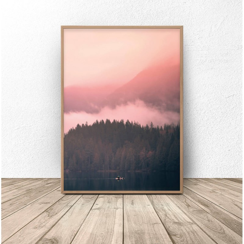 Poster for the wall Pink forest