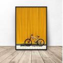 """Plakat nowoczesny """"Biały rower"""""""