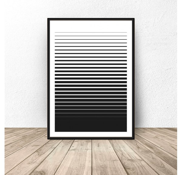 2-in-1 striped poster