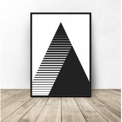 Plakat w trójkąty i paski 2 w 1