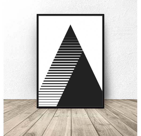 Poster in triangles and stripes 2 in 1