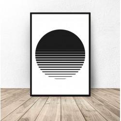 """Plakat abstrakcyjny """"Zachód..."""