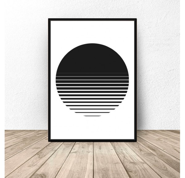 Abstract poster Sunset