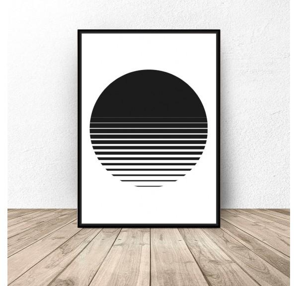 Plakat abstrakcyjny Zachód słońca
