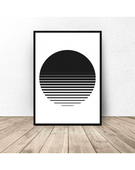 "Plakat abstrakcyjny ""Zachód słońca"""