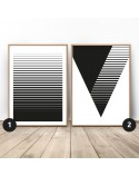 Poster set Striped abstraction