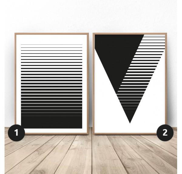 Zestaw plakatów Pasiasta abstrakcja