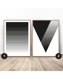 Poster set Striped abstraction 2