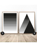 Poster set Striped abstraction 3