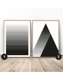 Poster set Striped abstraction 4