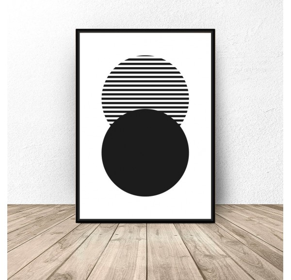 Abstract poster Striped Circle