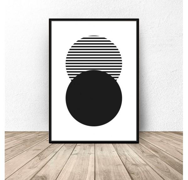 Plakat abstrakcyjny Pasiaste koło