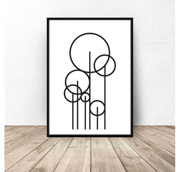 Plakat abstrakcyjny Trees