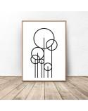 Plakat abstrakcyjny Trees 2