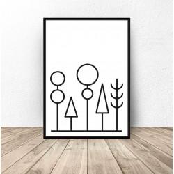 Plakat abstrakcyjny las...