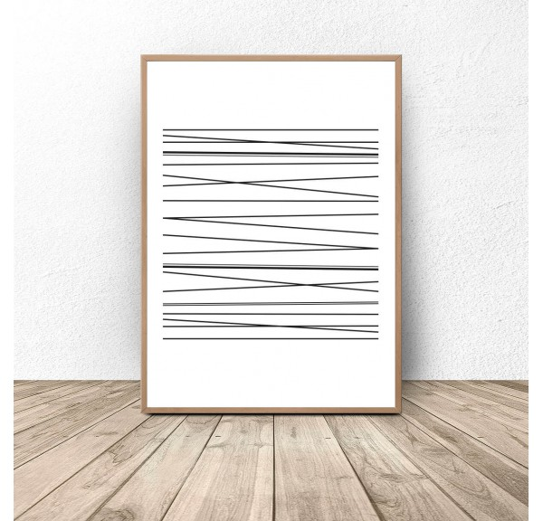 Abstract poster with dashes