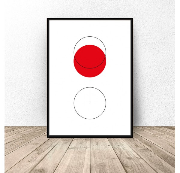 Abstract poster Glass of wine