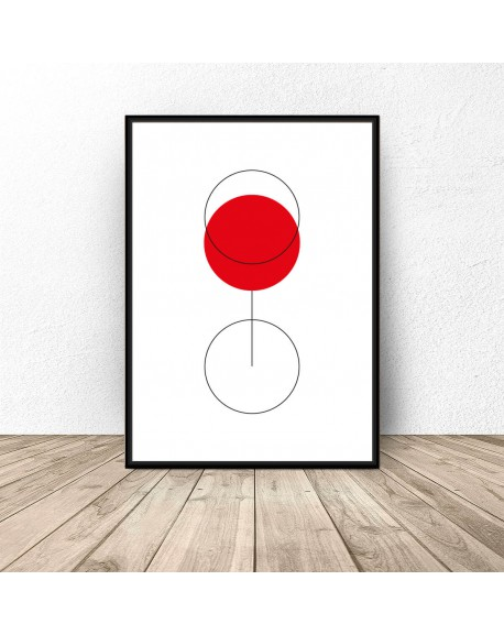 "Plakat abstrakcyjny ""Glass of wine"""
