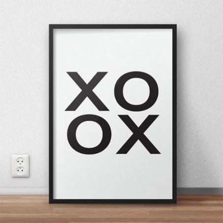 "Plakat typograficzny ""XOXO"""