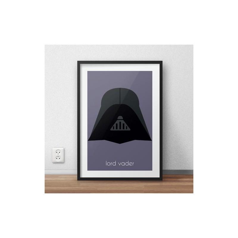 Kolorowy plakat dla dzieci z postacią Lorda Vadera
