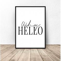 "Plakat dekoracyjny ""Why Hello"""