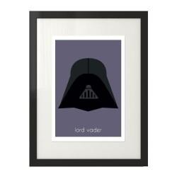 Kolorowy plakat na ścianę z wizerunkiem Lorda Vadera z Gwiezdnych Wojen