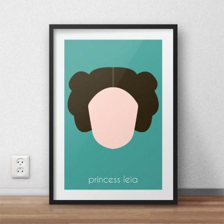 Plakat z postacią Księżczniczki Lei
