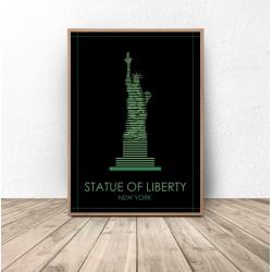 """Kolorowy plakat Nowego Jorku """"Statua Wolności"""""""