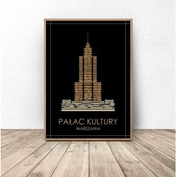 """Kolorowy plakat Warszawy """"Pałac Kultury"""""""