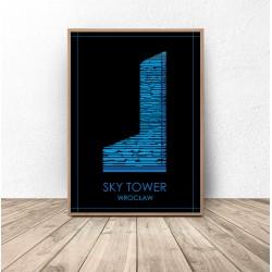 """Kolorowy plakat Wrocławia """"Sky Tower"""""""