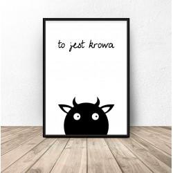 """Plakat dla dzieci """"To jest krowa"""""""
