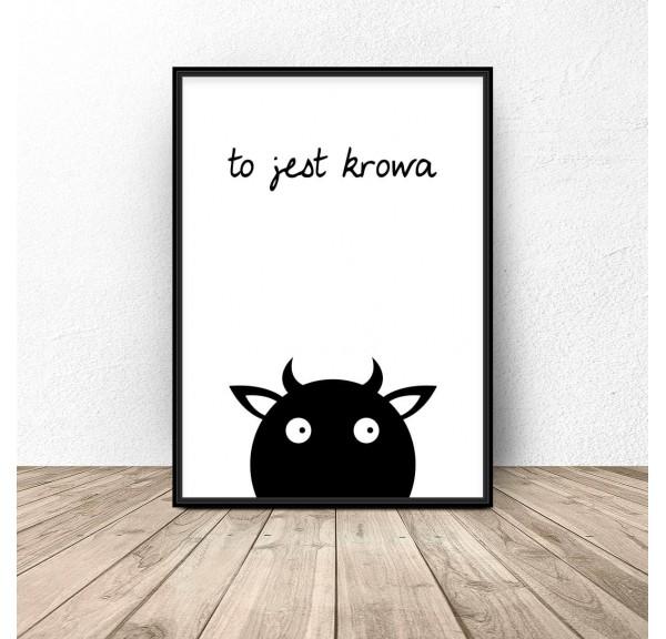 Plakat dla dzieci To jest krowa