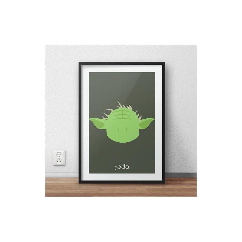 Plakat z postacią Yody