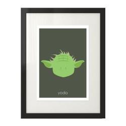 Plakat z postacią Yoda dla dzieci i  fanów filmu Gwiezdne Wojny