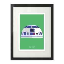Plakat z postacią R2-D2 dla dzieci i  fanów filmu Gwiezdne Wojny