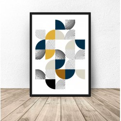 """Geometryczny plakat """"Patchwork"""""""
