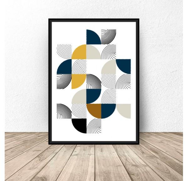 Geometryczny plakat Patchwork