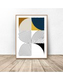 Set of geometric posters Patchwork 3