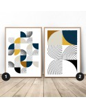 Zestaw geometrycznych plakatów Patchwork