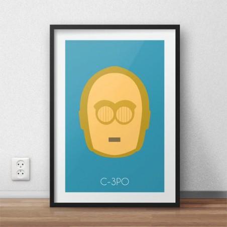 Plakat z postacią droida C-3PO