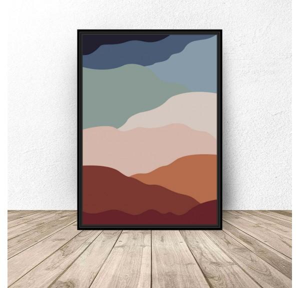 Plakat abstrakcyjny Gorące piaski