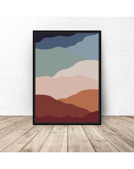 "Plakat abstrakcyjny ""Gorące piaski"""