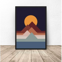 "Plakat abstrakcyjny ""Sunset"""