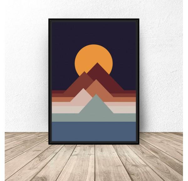 Plakat abstrakcyjny Sunset