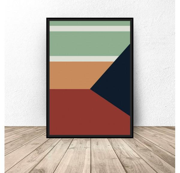 Plakat abstrakcyjny Geometria